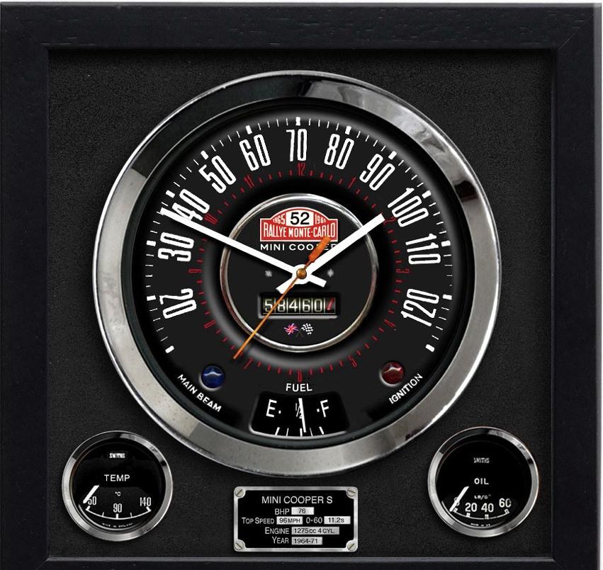 Speedo Wall Clock - Mini Cooper S Monte Carlo - herostore.eu