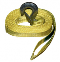 3m Tow rope with zink steel hook and loop. 2000kg