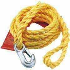3m Tow Rope with Zink Steel Hook and Loop 2000kg