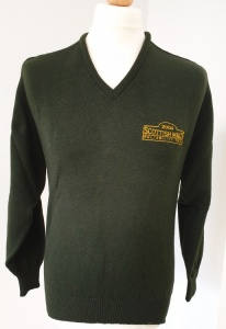 2004 Scottish Malts Green V-Neck Jumper 40''