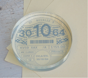 Personalised Tax Disc Paperweight