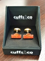 Peking to Paris Gold Cufflinks